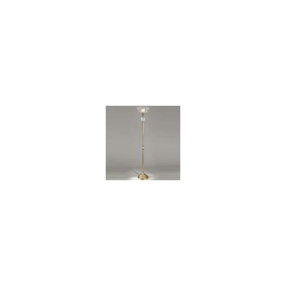 Dale Tiffany GR60821 Bologna Torchiere Lamp, Antique Brass and Crystal