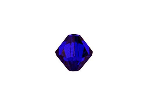 Swarovski Crystal, 5328 Bicone Beads 4mm, Cobalt, Wholesale Packs   Pack of 100