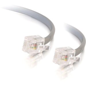 C2G/Cables to Go 8134 RJ12 Modular Telephone Cable (Silver)
