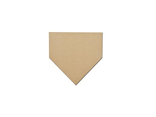 Baseball Home Plate Shape Unfinished MDF Cut Out MHP-12 (Baseball Cutout)