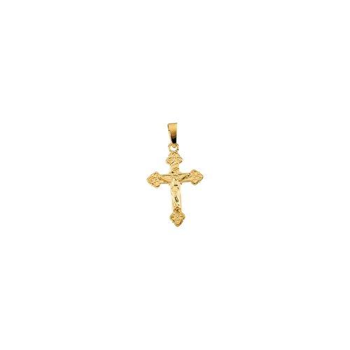Yellow-gold Childs Crucifix (Yellow Gold Childrens Crucifix Pendant)