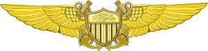 Flight Officer Wings (US Navy Flight Officer Decal Sticker)