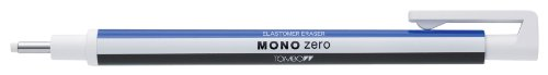 Tombow Mono Eraser Set Includes Zero Round Tip Eraser - White/ Eraser Refills (Pack of 2)