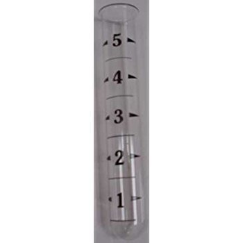 Ancient Graffiti Replacement Tube Rain Gauge Glass with Lip at Top 6