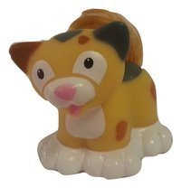 Touch N Feel CALICO Out of Production Pet Cat Loose//Repackaged Fisher Price Little People Animals