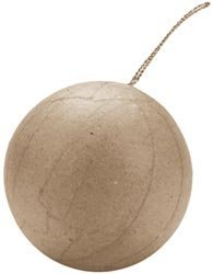 Paper Mache Ornament - Bulk Buy: Darice Paper Mache Ball Ornament 2 1/2