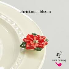 Nora Fleming Poinsettia Mini - Nora Fleming Christmas Bloom Mini A170