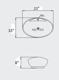 sink ALEXANDER 24'' OAK Utility Sink - OAK Modern Mop Slop Tub Deep Sink Ceramic Laundry Room Vanity Cabinet Contemporary Hardwood Hard wood by www.LuxuryModernHome.com (Image #2)