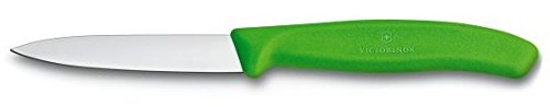 Victorinox Swiss Stainless Steel Paring Knife 3.25 Inch Straight Edge, Spear Point (Set of 4) Green, Orange, Pink and Yellow by Culinary Depot (Image #1)