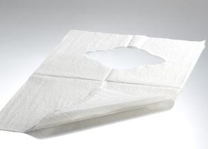 Graham Medical 960 Tissue/Poly Bib, 19.5'' Width, 28'' Length, White (Pack of 500)
