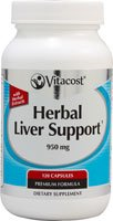 Vitacost Herbal Liver Support -- 950 mg per serving - 120 Capsules Nsi Liver
