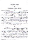 Six Studies in English Folk Song for ()