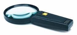 "RoadPro Magnifying Glass,Illuminated 4X, 3.25"""