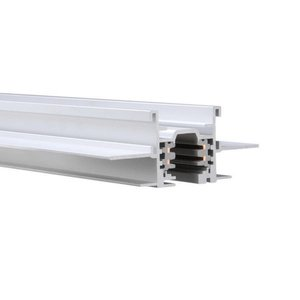 WAC Lighting WT4-RTL-WT W Track W2 120V 2-Circuit Recessed Track, 4-Feet