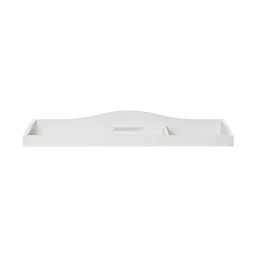 Evolur Fully Assembled Changing Tray, Brush White