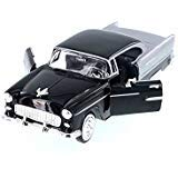 - Motor Max 1955 Chevy Bel Air Hard Top, Black 73229AC/BK - 1/24 Scale Diecast Model Toy Car