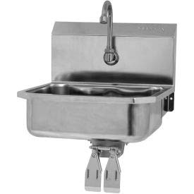 SANI-LAV 605D Wall Mount Sink With Double Knee Pedal Valve Double Knee Pedal Valve