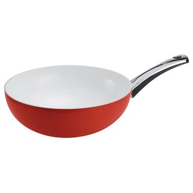 "Pearl Wok 11.5""""/4.5 qt. Red w/Milestone Handle Home Kitchen Furniture Decor"