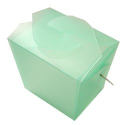 Green  Frosted Take Out Box (12) - Wedding Favor