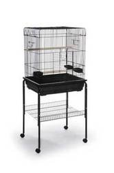 Prevue Pet Products BPV25217 Parrot Square Roof Cage, 25 by 21-Inch, Black