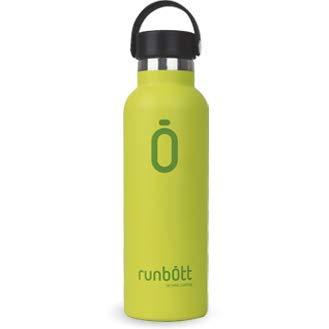 Runbott Botella Agua Acero Inoxidable sin BPA con Recubrimiento OInterno Ceramico 600 ml Doble Capa con Vacio. Sin Sabor Metalico (Lima)
