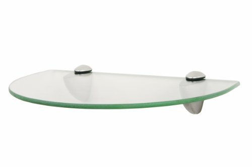 Shelf-Made KT-0134-812SN Curved Glass Shelf Kit, Satin Nickel, 8-Inch by 12-Inch للبيع