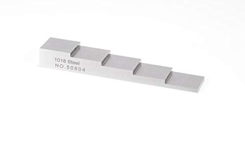 YUSHI 5 Step 2.5mm 5mm 7.5mm 10mm 12.5mm Test Calibration Block for Thickness Gauge in NDT Testing //1018 Steel