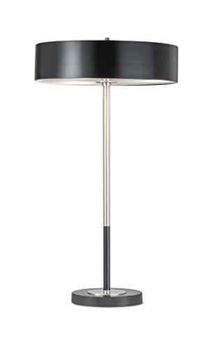NOVA of California 1011073 Slim-Line LED Contemporary Metal Table Lamp, Original Design with Matte Black Finish for Living Room, Den, Family Room, Office, Bedroom