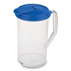 Sterilite  2 x 2 quart Round Pitcher, Blue Sky Lid with Clear base, Pack of 2 (2 Qt Pitcher)