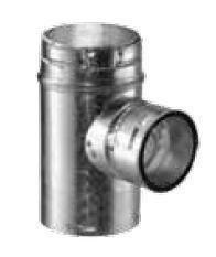 """DuraVent 5GVTR4 5"""" Inner Diameter - Type B Round Gas Vent Pipe - Double Wall - 4, Aluminum"""