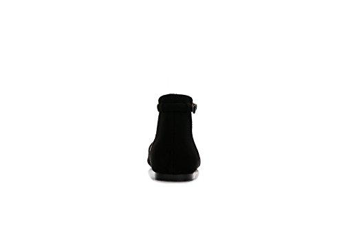 mujer negro con cuña Sandalias ComeShun 0Ztq8
