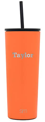 Simple Modern Personalized Gift Tumbler Custom, Classic 24oz - Straw & Flip Lid, Autumn