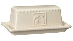 Signature Housewares Sorrento Collection Butter Dish, Ivory Antiqued Finish -