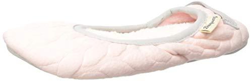 Dearfoams Women's Cable Quilt Ballet Slipper, Fresh Pink, M M US (Ballet Flats Slippers)
