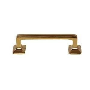 P-124 LARGE BRASS DRAWER PULL HANDLE ANTIQUE HOOSIER TYPE CABINET, DESK OR ANY VINTAGE FURNITURE REPRODUCTION RESTORATION HARDWARE + FREE BONUS (SKELETON KEY BADGE) (1) - Hoosier Cabinet Type