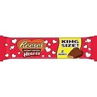 Reese's Valentine's Peanut Butter Hearts, King Size, 2.4-Ounce Packages (Pack of 3)