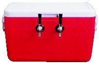 Double Faucet Beer Keg Cooler