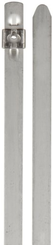 BAND-IT AS6229 Tie-Lok 304 Stainless Steel Cable Tie, 3/8'' Width, 11.5'' Length, 2'' Maximum Diameter, 100 per Bag by Band-It