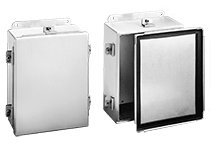 Hoffman A1008NFAL J Box, NEMA 4X, Clamp Cover, Aluminum, 10.00'' x 8.00'' x 4.00'' by Hoffman