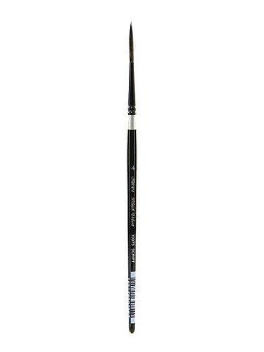 Silver Brush 3007S-4 Black Velvet Short Handle Blend Squirrel and Risslon Brush, Script Liner, Size 4 by Silver Brush Limited
