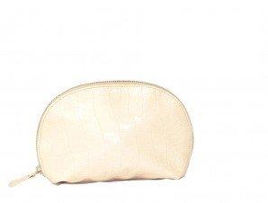 (Joann Marie Designs COSBMC Cosmetic Bag - Black Mock Croc Pack of 2 )