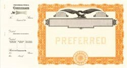 Goes Eagle, No Text, Preferred Stock Certificates, Orange, 100 per package