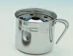 Cazo 12 cm de acero inoxidable 1 L, 18/c frabosk: Amazon.es ...