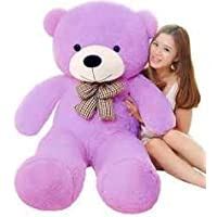 Deepika Soft Toys Premium Quality Extra Large Very Soft Lovable/Huggable 3 FEET Long (152 cm) Best for Someone Special Teddy Bear for Girlfriend/Birthday Gift/Boy/Girl (Purple)