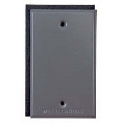 Bell Outdoor 5173-0 Gray Single Gang Blank Switch Plate - Boxes Weatherproof Raco