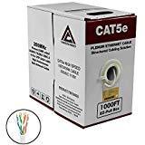 (CAT5E Plenum 1000FT UTP 24AWG ETHERNET Cable White)