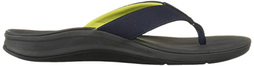 Reef Men's Ortho-Bounce Sport Sandal, Navy/Yellow, 070 M US by Reef (Image #7)