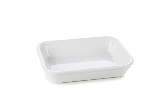 REVOL 651584/4 RPL1219 Set of 4 Individual Rectangular Dishes, White by Revol