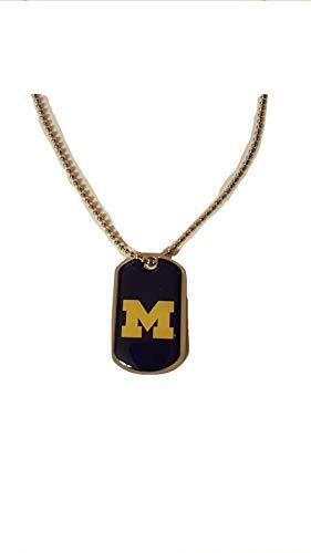 aminco NCAA Michigan Wolverines Domed Dog Tag, Team Color, 4