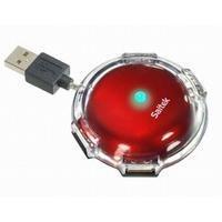 Saitek Mini Color UFO Hub-Metallic Red